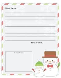 Free Dear Santa Letter Template Free Santa Letters Online Com