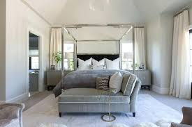 Chrome Canopy Bed Chrome Canopy Bed With Black Headboard Polished ...