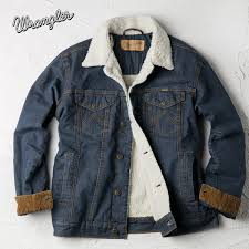 denim sherpa jacket ranch wrangler cowboycut sherpa lined denim jacket 74256rt