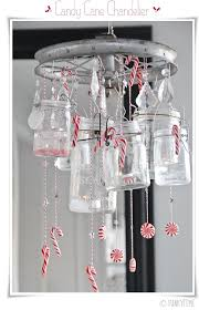 sweet diy candy cane chandelier