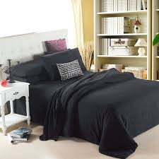 black double bed quilt cover customized plain russia usa size duvet cover sets soft bedding sets