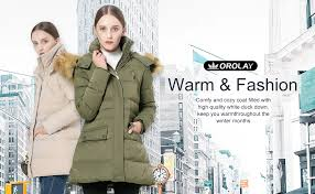 Orolay Women S Thickened Down Jacket Size Chart Orolay Womens Thickened Down Jacket Winter Coat Black
