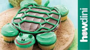 Birthday Cake Ideas How To Make A Fun Turtle Cupcake Cake Youtube