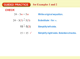 15 15 write original equation substitute 3 for m