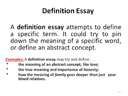 types of essays lecture recap i what is an outline a a definition essay attempts to define a specific term