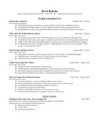 Graduate School Application Resume
