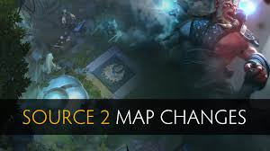 dota 2 source 2 0 map changes old vs new youtube