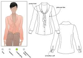 Blouse Sewing Pattern Awesome Tiffany Blouse Style Arc
