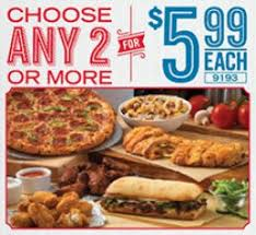 choose any two or more um 2 topping pizzas bread twists salads pastas 8 piece wings specialty en boneless en stuffed cheesy breads