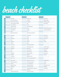 Vacation Checklist Complete Beach Vacation Packing Checklist Trendsurvivor