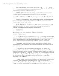 Sample Business Purchase Agreement Appendix C Sample Power Purchase Agreement Developing A Business 20