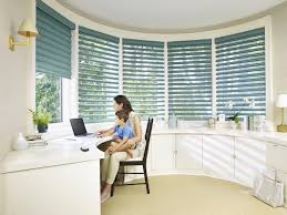 home office home. Pirouette® Window Shadings In A Home Office - Buy At Winnipeg Drapery