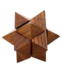 desi karigar handmade 3d star jigsaw wooden brainteaser puzzle game for kids made in pure sheesham wood desi karigar handmade 3d star jigsaw wooden