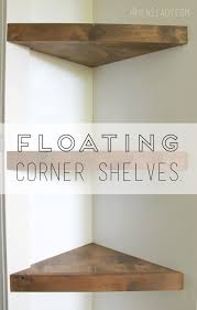 How To Hang Corner Shelves How to make floating corner shelves tutorial http10000men100lady 2