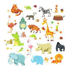 jungle wall decals jungle animals wall stickers for kids rooms safari nursery rooms baby home decor jungle wall decals
