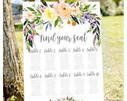 Seating Chart Sign Wedding Seating Chart Printable Seating