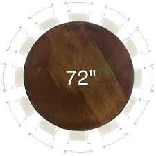 72 round table inch round table 72 table runner size