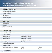 Professional Audit Report Template Example With Blue Header And ...