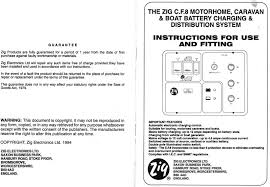 zig wiring diagrams and instructions the late bay instructions for use and fitting manual for zig cf8 unit