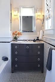 retro bathroom vanity contemporary with dark stained wood gray antique vessel sink