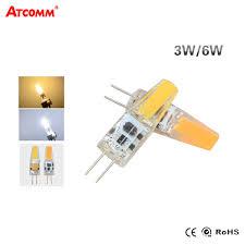 g4 led diode lamp 12v 3w 6w high brightness flicker free cob led g4 chandelier