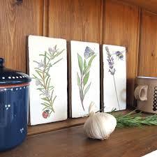 herbs wall art decorative ceramic tile