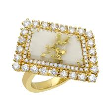 home all fine jewelry rings diagonal 2 5 cts gold quartz ring in 18k yellow gold