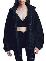 Gzbinz Women's Casual Warm Faux Shearling Coat Jacket <b>Autumn</b> ...