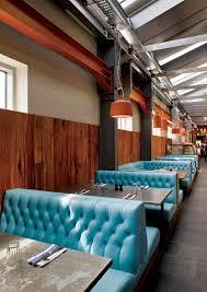 Modern Restaurant Furniture Supply Delectable Jamie's Italian Restaurant Interior Design Sky Blue Tufted Booths