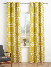 Geometric Patterned Curtains Geometric Jacquard Eyelet Curtains Ms