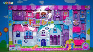 Bộ đồ chơi ngôi nhà búp bê cho bé gái - Mở hộp, giới thiệu và chơi cùng bé  - YouTube