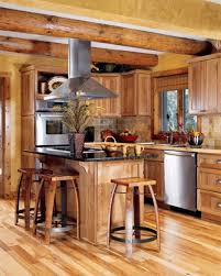 cabin kitchen ideas stylish design best 10 kitchens on log throughout 15