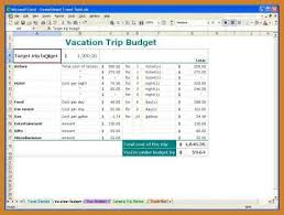 vacation budget planner vacation planner template notary letter