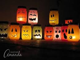 Full tutorial on how to make these AWESOME Halloween luminaries! I LOVE all  the colors