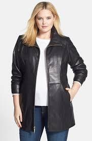 women s ellen tracy leather walking coat plus size jacket