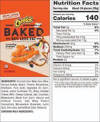 fritos nutrition facts small bag baked cheetos nutrition cheetos nutritional info