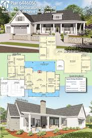 Introducing Architectural Designs Modern Farmhouse Plan 64460SC! This plan  offers a flexible floor plan giving