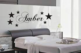 Personalised Star Wall Art Sticker Name Style B, Kids Bedroom Wall Stickers  .
