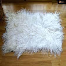goat skin rug free fashion white color long hair genuine goat skin rug uk