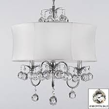 contemporary pendant lighting fixtures. modern contemporary white drum shade u0026 crystal ceiling chandelier pendant lighting fixture w 18u0026quot fixtures