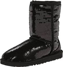 UGG Australia Womens Classic Short Sparkles Boots Black Size 7     Check  out the