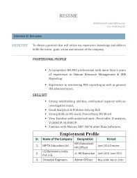Resume Sample Format Mesmerizing Mis Analyst Resume Samples Sample Executive Browse In Top Format For