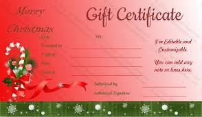 Santa Sticks Christmas Gift Certificate Template