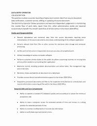 Job Description For Data Entry For Resume Data Entry Resume Samples Elegant Resume Sample Data Encoder Best 9