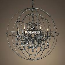 black orb chandelier free vintage crystal lighting candle chandeliers pendant hanging light for home hotel decor in from lights iron