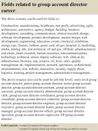 Top 8 Group Account Director Resume Samples