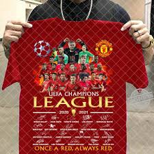 Uefa Champions League 2020 2021 Once A Red Always Red Shirt