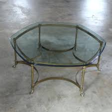 hollywood regency coffee table sold neoclassical hollywood regency brass and glass hexagon coffee in fresh hollywood