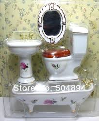1 12 Scale Dollhouse Furniture Miniature Bathroom Set Water Closet