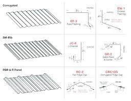 sheet metal roof flashing corrugated